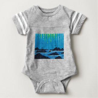 Body Para Bebê Floresta enevoada gigante pelo rio