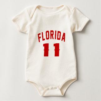 Body Para Bebê Florida 11 designs do aniversário