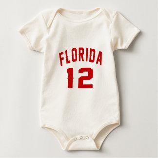 Body Para Bebê Florida 12 designs do aniversário