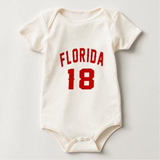 Body Para Bebê Florida 18 designs do aniversário
