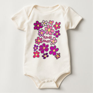 Body Para Bebê Flower power