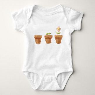 Body Para Bebê Flowerpot bonito