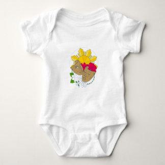 Body Para Bebê Fluxo filipino de Sampaguita do hibiscus de Sun da