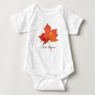 Body Para Bebê Folha de bordo da aguarela