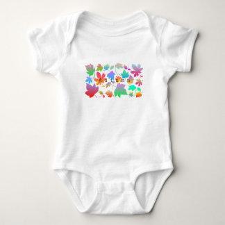 Body Para Bebê Folhas de outono coloridas