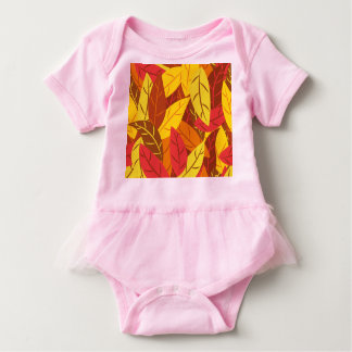 Body Para Bebê Folhas mornas coloridas teste padrão do outono
