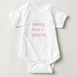Body Para Bebê Formação a ser uma bailarina