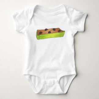 Body Para Bebê Formigas em uma comida do piquenique da manteiga
