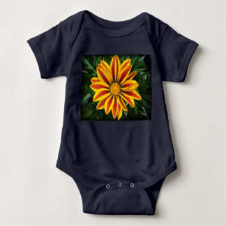 Body Para Bebê Foto alaranjada bonita da flor de Sun