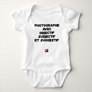 Body Para Bebê Fotógrafo com objectivo subjectivo e sugestivo
