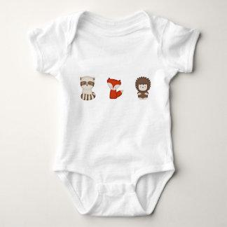 Body Para Bebê Fox do coral & amigos Onsie