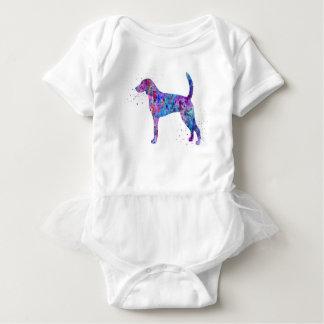 Body Para Bebê Foxhound americano, aguarela do foxhound americano