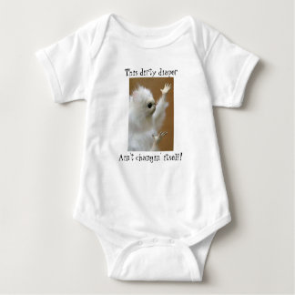 Body Para Bebê Fralda suja do meme do gato persa