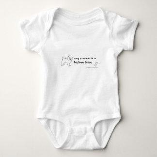 Body Para Bebê frise do bichon