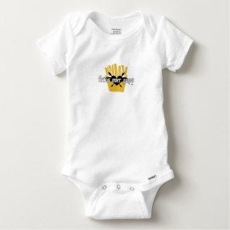 Body Para Bebê Fritadas sobre o slogan das caras