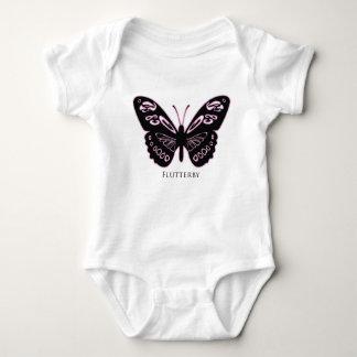 Body Para Bebê Fulgor cor-de-rosa preto de Flutterby