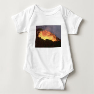 Body Para Bebê fulgor do fogo vulcânico
