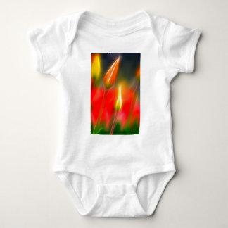 Body Para Bebê Fulgor vermelho e amarelo da tulipa