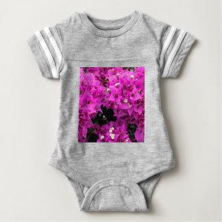 Body Para Bebê Fundo fúcsia roxo do Bougainvillea