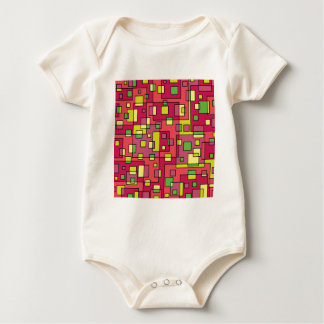 Body Para Bebê Fundo quadrado cor-de-rosa