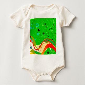 Body Para Bebê Fundo verde do jazz