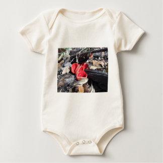Body Para Bebê Fungo de copo vermelho