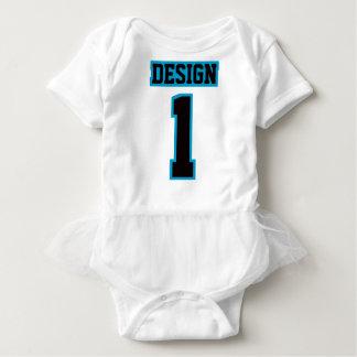 Body Para Bebê Futebol AZUL PRETO BRANCO lateral Babywear do tutu