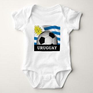 Body Para Bebê Futebol Uruguai