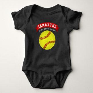 Body Para Bebê Futuro do softball All-star
