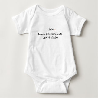 Body Para Bebê Futuro:  Encontrado, CEO, COO. CMO…