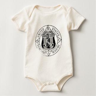 Body Para Bebê Fuzileiros navais mercantes dos E.U. perto: David