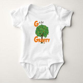 Body Para Bebê G é para a física bonito da gravidade & o design