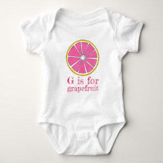 Body Para Bebê G é para citrinos do amarelo do rosa da toranja