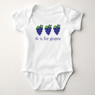 Body Para Bebê G é para o alfabeto roxo ABCs da fruta do grupo