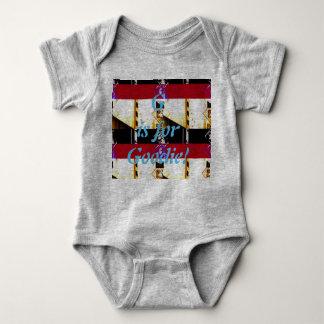 Body Para Bebê G é para o Bodysuit de Goodie
