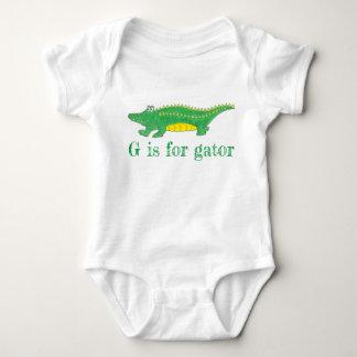 Body Para Bebê G é para o crocodilo de Croc do jacaré do verde do