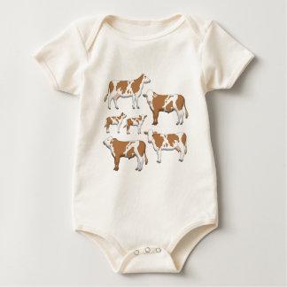 Body Para Bebê Gado de nódoa selecção