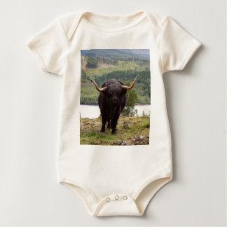 Body Para Bebê Gado preto das montanhas, Scotland