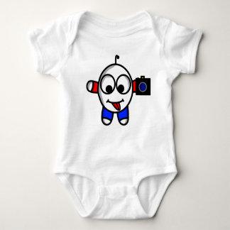 Body Para Bebê gajo engraçado da câmera