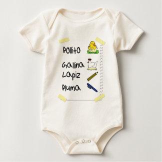 Body Para Bebê Galinha de Pollito