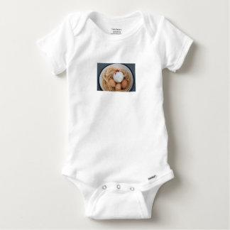 Body Para Bebê Galinha & ovos