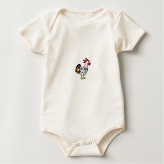 Body Para Bebê galo da cauda da cor yeah