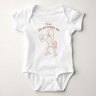 Body Para Bebê Galo nas luvas