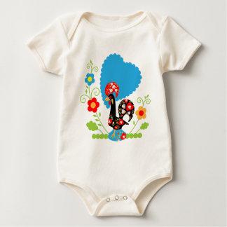 Body Para Bebê Galo português da sorte