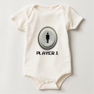 Body Para Bebê Gamer clássico - jogador 1