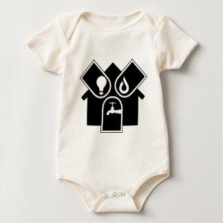 Body Para Bebê Gás de água elétrico