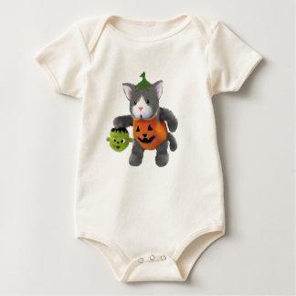 Body Para Bebê gatinho do Dia das Bruxas