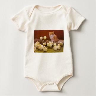 Body Para Bebê Gatinho e pintinhos macios