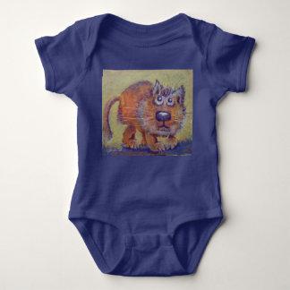 Body Para Bebê Gatinho engraçado do gengibre