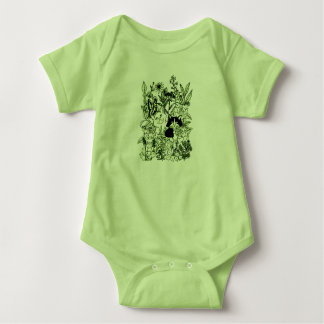 Body Para Bebê Gatinhos nos Wildflowers